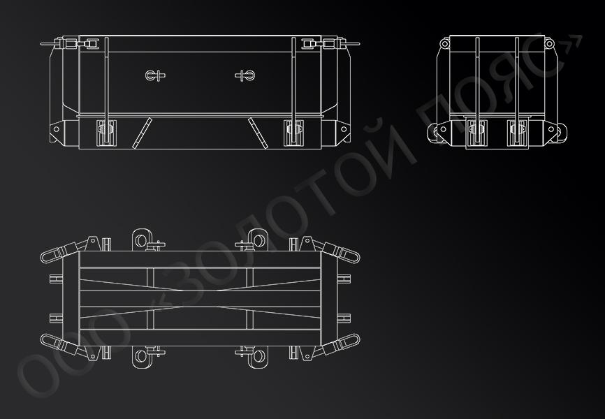 Форма для железобетонного ригеля марки Р1